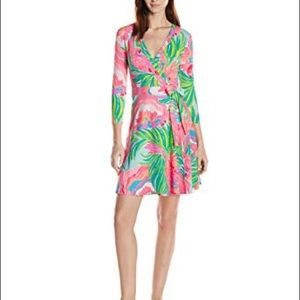 Lilly Pulitzer Dresses - Lilly Pulitzer Emilia wrap dress XL NWT
